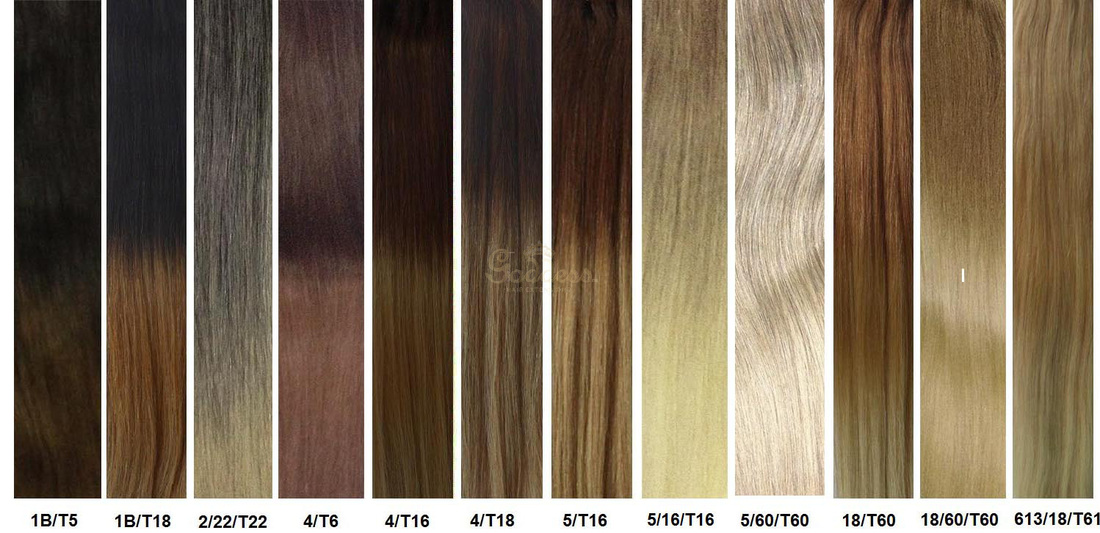 Color Chart Hair Extensions Match 88